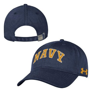 Under Armour Men's Arched Navy Garment Washed Hat