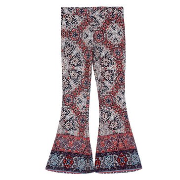 Byer Big Girls' Print Flare Pant