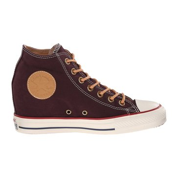 Converse Chuck Taylor All Star Lux Mid Women's Sneaker Black Cherry