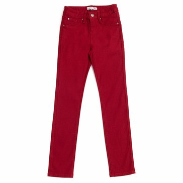 YMI Big Girls' Hyperstretch Skinny Pant, Burgundy