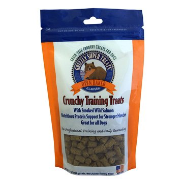 Grizzly Smoked Wild Salmon Grain-Free Oven Baked Training Dog Treats, 5 oz.