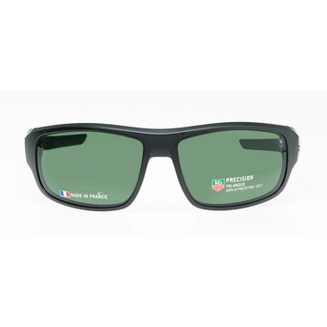 Tag Heuer Men's Racer 2 Polarized Sunglasses 9221-304, Matte Black/ Green 64mm