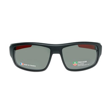 Tag Heuer Men's Racer 2 Polarized Sunglasses 9221-901, Matte Black/ Red/ Grey 64mm