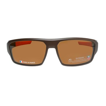 Tag Heuer Men's Racer 2 Polarized Sunglasses 9222-202, Brown/ Orange 69mm
