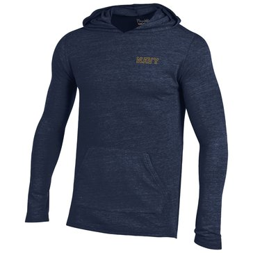 Under Armour Men's Navy Triblend Hoodie Long Sleeve Shirt