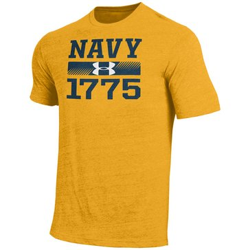 Under Armour Men's Navy 1775 Tri Blend Short Sleeve Tee Shirt