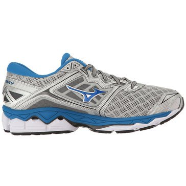 Mizuno Wave Sky Men's Running Shoe - Silver / Directoire Blue / Black