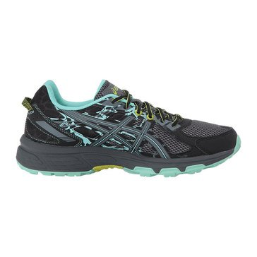 Asics Gel Venture 6 Women's Trail Shoe - Black / Carbon / Neon Lime