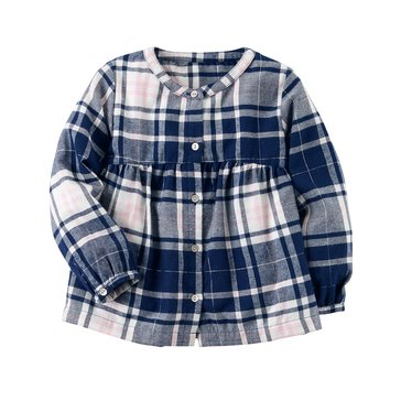 Carter's Toddler Girls' Plaid Flannel Top