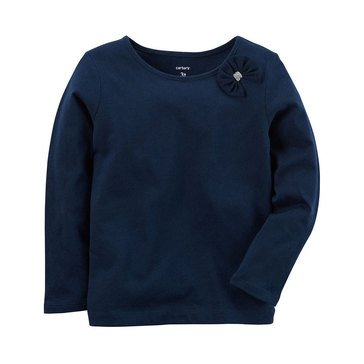 Carter's Toddler Girls' Solid A-line Top, Navy