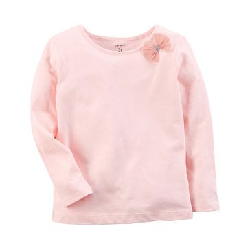Carter's Toddler Girls' Solid A-line Top, Light Pink