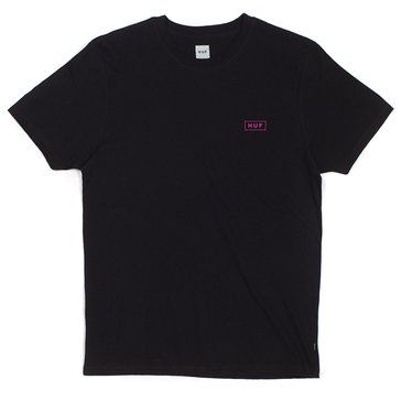 Huf Men's Puff Bar Logo Short Sleeve Tee Shirt