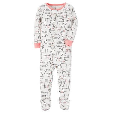 Carter's Toddler Girls' Cat Print Pajamas