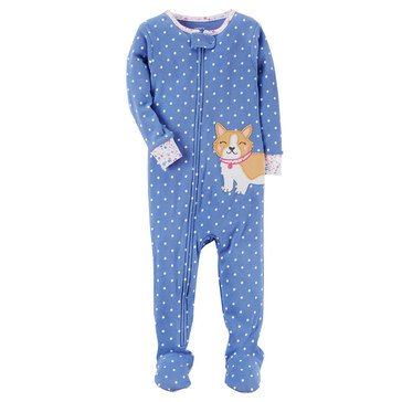 Carter's Toddler Girls' Dot Dog Pajamas