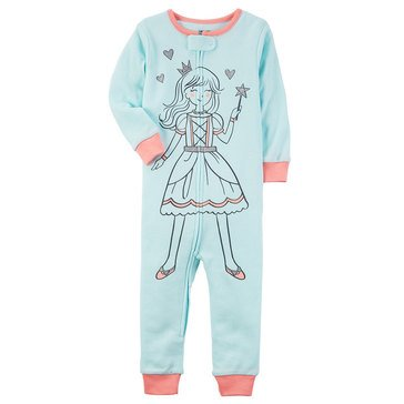 Carter's Toddler Girls' Fairy Footless Pajamas, Light Blue