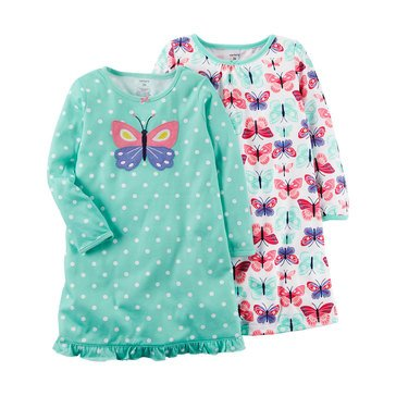 Carter's Toddler Girls' 2 Pack Butterfly Gown