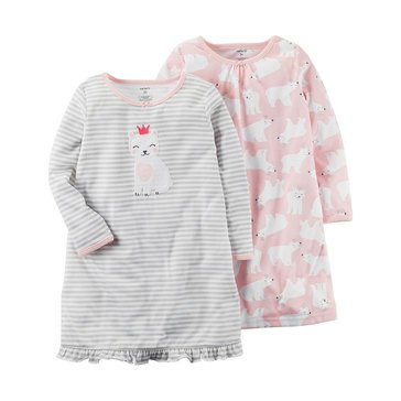 Carter's Toddler Girls' 2 Pack Bear Gown