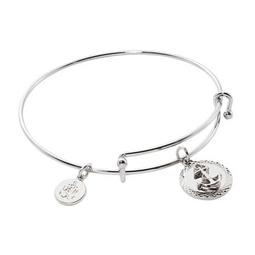Chronomatic USN Diamond Cut Anchor Charm Expandable Bracelet