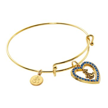 Chronomatic USN Heart Crys Blue Heart Expandable Bracelet