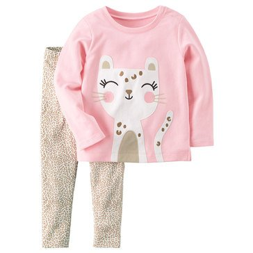 Carter's Toddler Girls' 2-Piece Legging Set, Pink