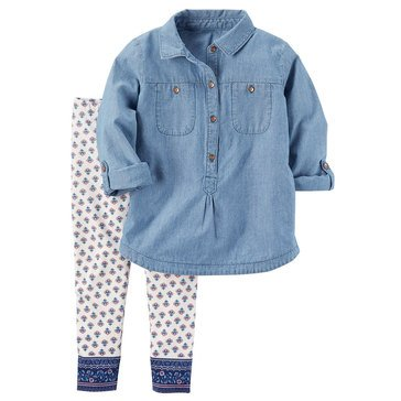 Carter's Toddler Girls' 2-Piece Legging Set
