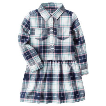 Carter's Toddler Girls' Plaid Flannel Dropwaist Dress
