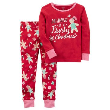Carter's Toddler Girls' Christmas 2-Piece Gingerbread Pajamas