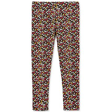 Epic Threads Little Girls' Ditsy Flower Print Legging, Deep Black