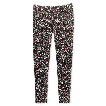Epic Threads Little Girls' Dark Ditsy Floral Legging, Deep Black