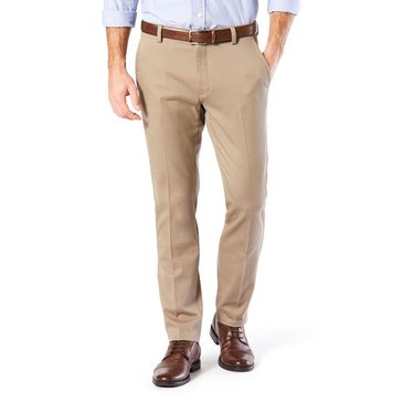 Dockers Men's Clean Khaki Slim Tapered Patterned Pants