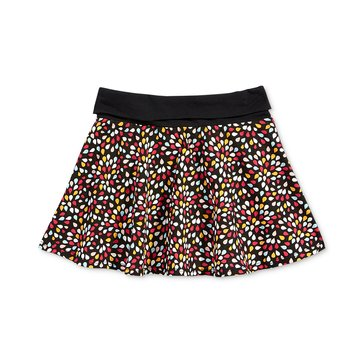 Epic Threads Little Girls' Ditsy Petal Skirt, Deep Black