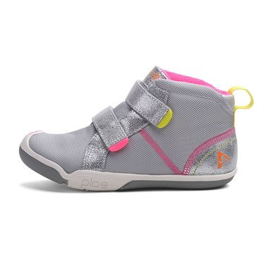 Plae Max Mid Girls Sneaker Silver/Pink