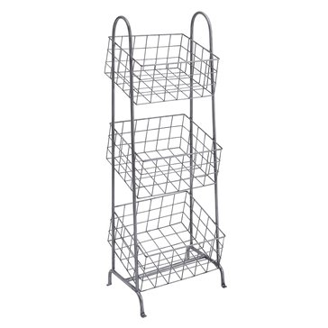 Linon Three Metal Basket Stand