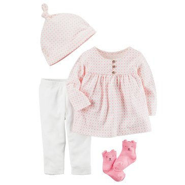 Carter's Baby Girls' 4-Piece Legging Set