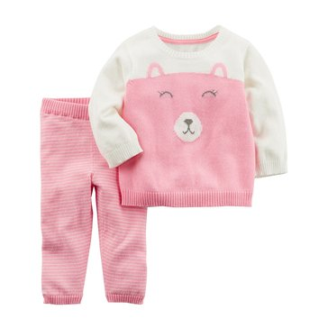 Carter's Baby Girls' 2-Piece Sweater Set