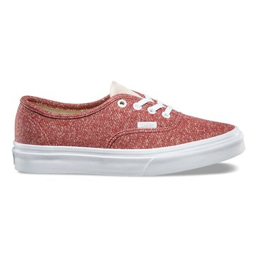 Vans Authentic Unisex Skate Shoe - Tibetan Red / True White