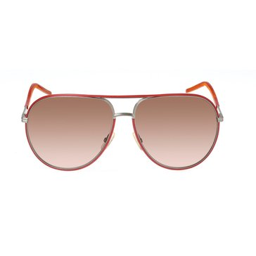Dior Women's Red Hot Aviator Sunglasses 0169S E4T/CC, Red Brown 62mm