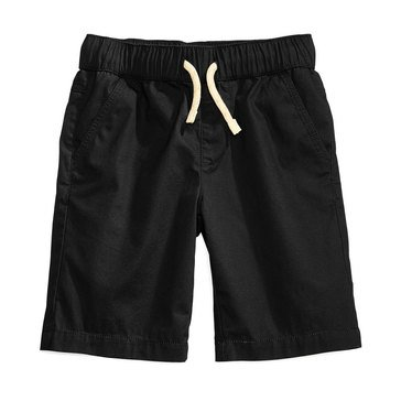 Epic Threads Little Boys' Canvas Pull-on Shorts, Deep Black