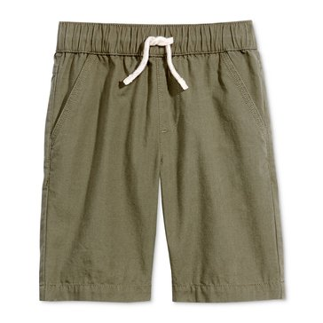 Epic Threads Little Boys' Canvas Pull-on Shorts, Dark Sprout