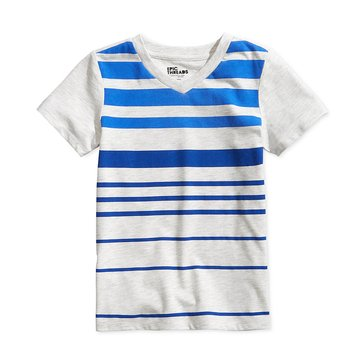 Epic Threads Little Boys' Page Stripe Tee, Oatmeal