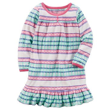 Carter's Big Girls' Fleece Fairisle Gown