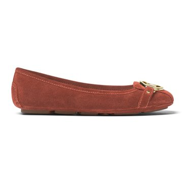 Michael Kors Fulton Moc Women's Suede Slip On Shoe Terracotta
