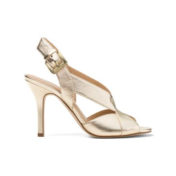 Michael Kors Becky Women's Sandal Metallic Pale Gold