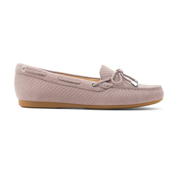 Michael Kors Sutton Moc Women's Slip On Shoe Snake Nubuk Mink