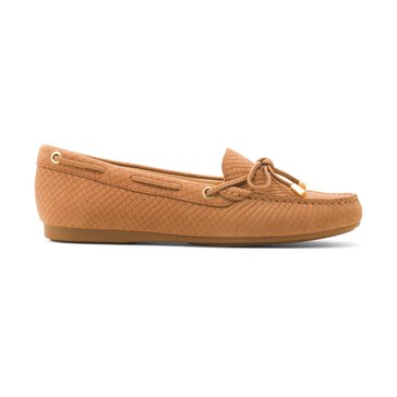Michael Kors Sutton Moc Women's Slip On Shoe Snake Nubuk Acorn