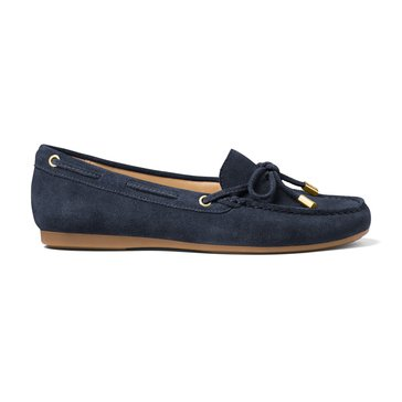 Michael Kors Sutton Moc Women's Suede Slip On Shoe Admiral