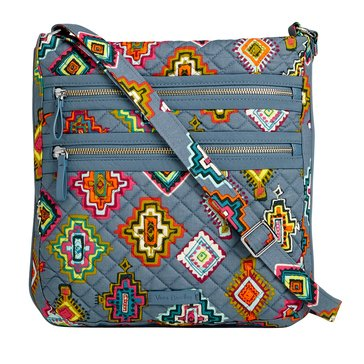 Vera Bradley Triple Zip Hipsters Iconic Crossbody Painted Medallions