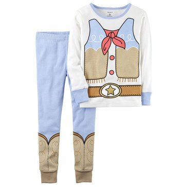 Carter's Little Girls' 2-Piece Cowgirl Dress Up Pajamas, Ivory