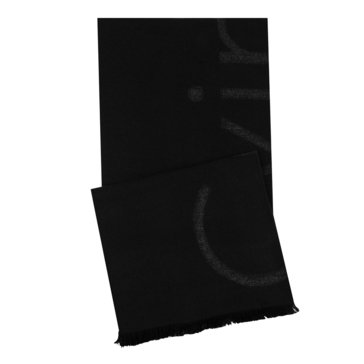 Calvin Klein Cut Off Logo Scarf - Black
