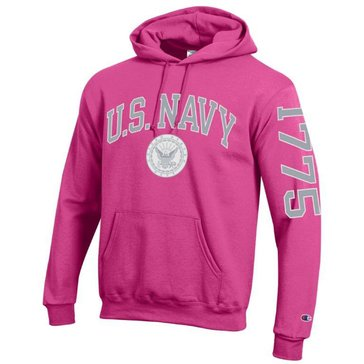 Champion Women's U.S.N With Navy Seal & 1775 On Sleeve Fleece Hoodie